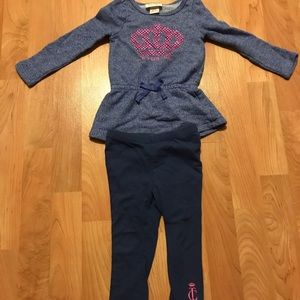 Toddler girl 2T Juicy Couture outfit